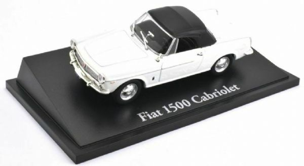 Atlas KL04 1/43 Scale Classic Sports Cars Fiat 1500 Cabriolet - White